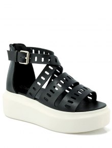 Platform Cross-Strap Hollow Out Sandals