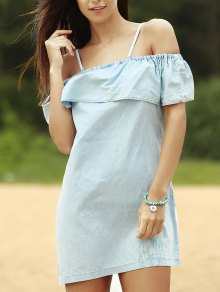 Off The Shoulder Denim Dress