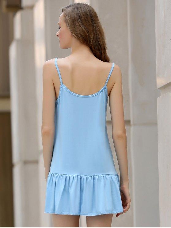Light Blue Cami Backless Dress - LIGHT BLUE L Mobile