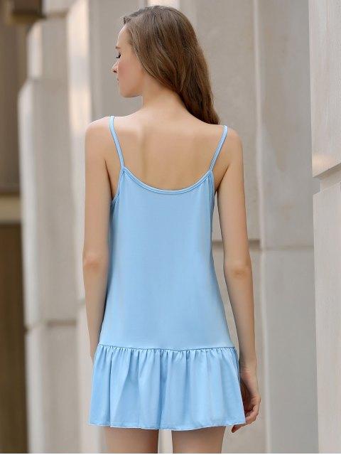 women's Light Blue Cami Backless Dress - LIGHT BLUE L Mobile