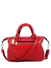 PU Leather Solid Colour Tote Bag