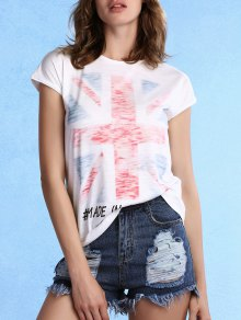White Union Jack T-Shirt