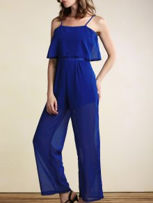 Overlayed Wide Leg Jumpsuit