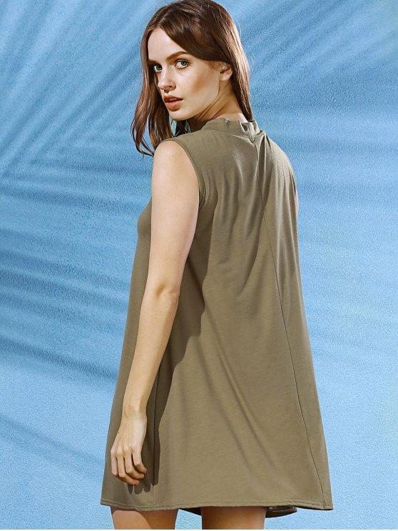 Sleeveless Swing Dress - ARMY GREEN XL Mobile