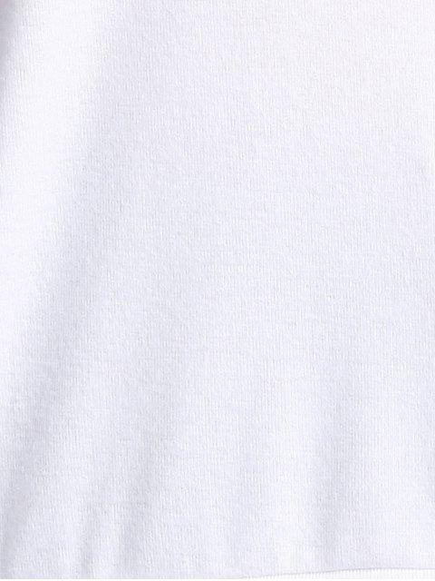 fancy Cake Print Round Neck Long Sleeve Sweatshirt - WHITE L Mobile