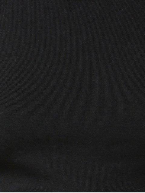 latest Black Cross Round Neck Sleeveless Tank Top - BLACK S Mobile