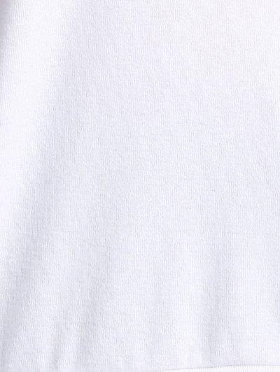 Cake Print Round Neck Long Sleeve Sweatshirt - WHITE S Mobile