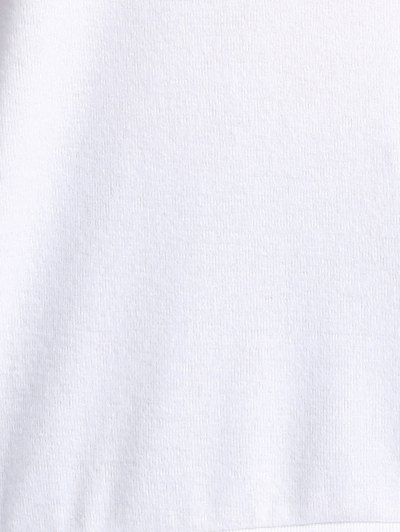 Cake Print Round Neck Long Sleeve Sweatshirt - WHITE M Mobile