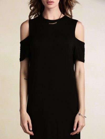 Fitted Cut Out High Slit Maxi Dress от Zaful.com INT