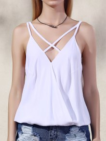 Solid Color Spaghetti Straps Tank Top