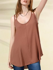 Double Strap Irregular Tank Top