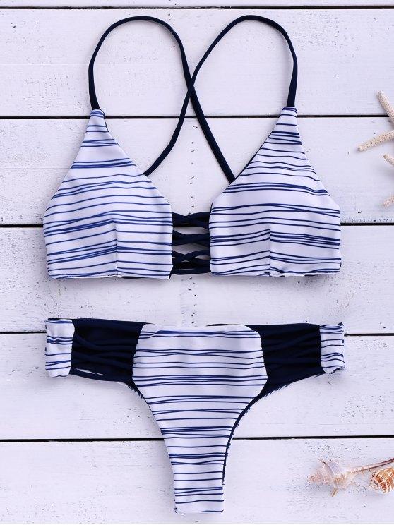 ladies Stripes Cami Bikini Set - STRIPE M