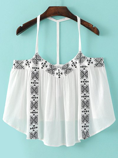 Embroidery Cami Tank Top