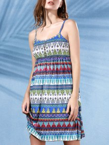 Printed Flared Cami Tribal Dress