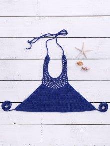 Halter Neck Crochet Bikini Top
