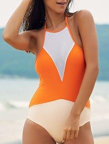 See-Through High Neck One Piece Swimwear