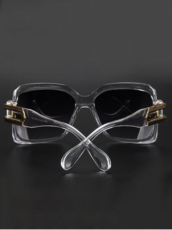 Hollow Alloy Modern Quadrate Sunglasses - TRANSPARENT  Mobile
