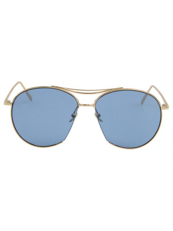 Irregular Frame Sunglasses - ICE BLUE  Mobile