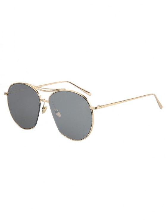 latest Irregular Frame Sunglasses - SILVER GRAY