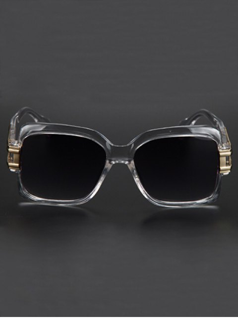 outfit Hollow Alloy Modern Quadrate Sunglasses - TRANSPARENT  Mobile