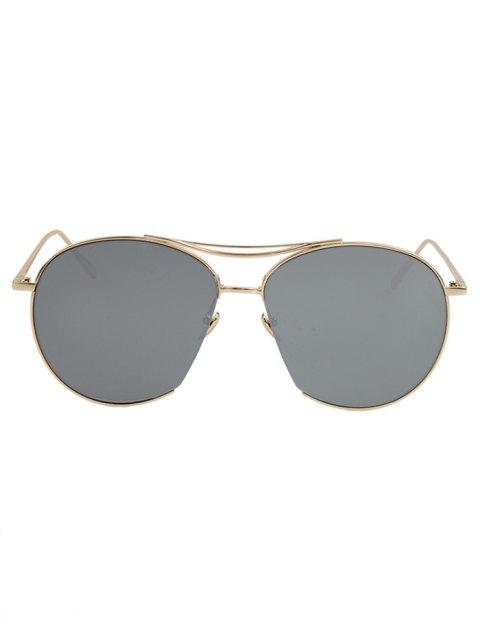 latest Irregular Frame Sunglasses - SILVER GRAY  Mobile