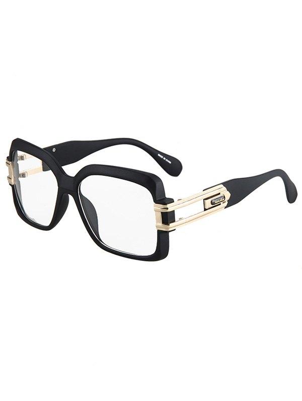 Hollow Alloy Matte Black Sunglasses