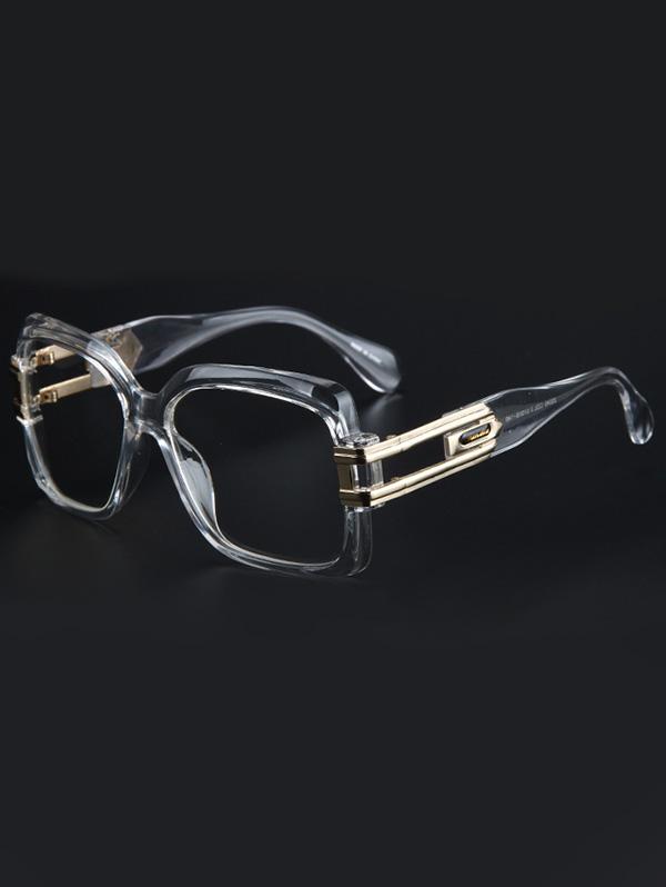 Hollow Alloy Quadrate Frame Sunglasses