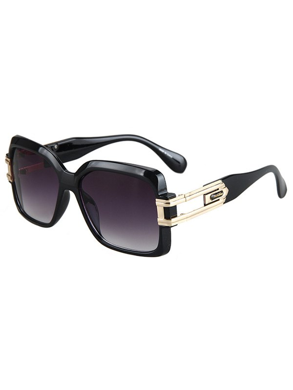 Hollow Alloy Modern Quadrate Sunglasses
