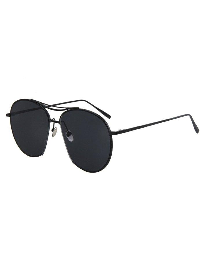 Irregular Frame Black Sunglasses
