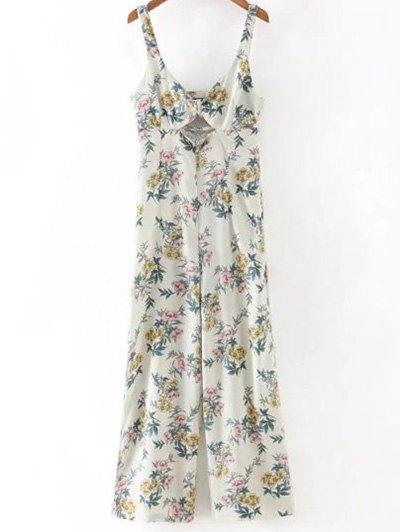 Floral Print Cami Cut Out Jumpsuit