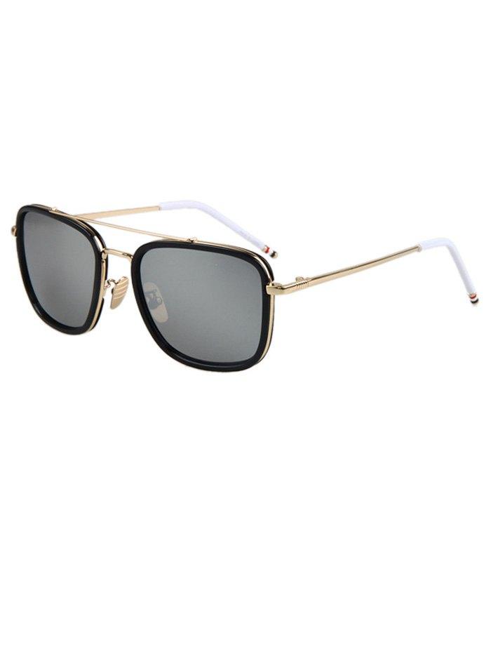 Black Frame Golden Alloy Sunglasses