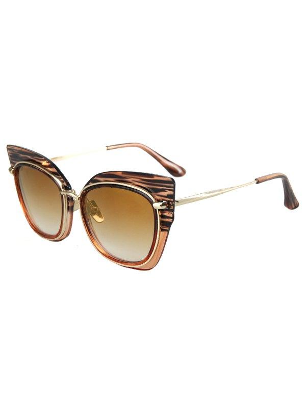 Striped Cat Eye Frame Sunglasses For Women