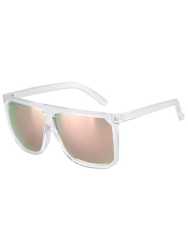 Big Quadrate Frame Transparent Sunglasses