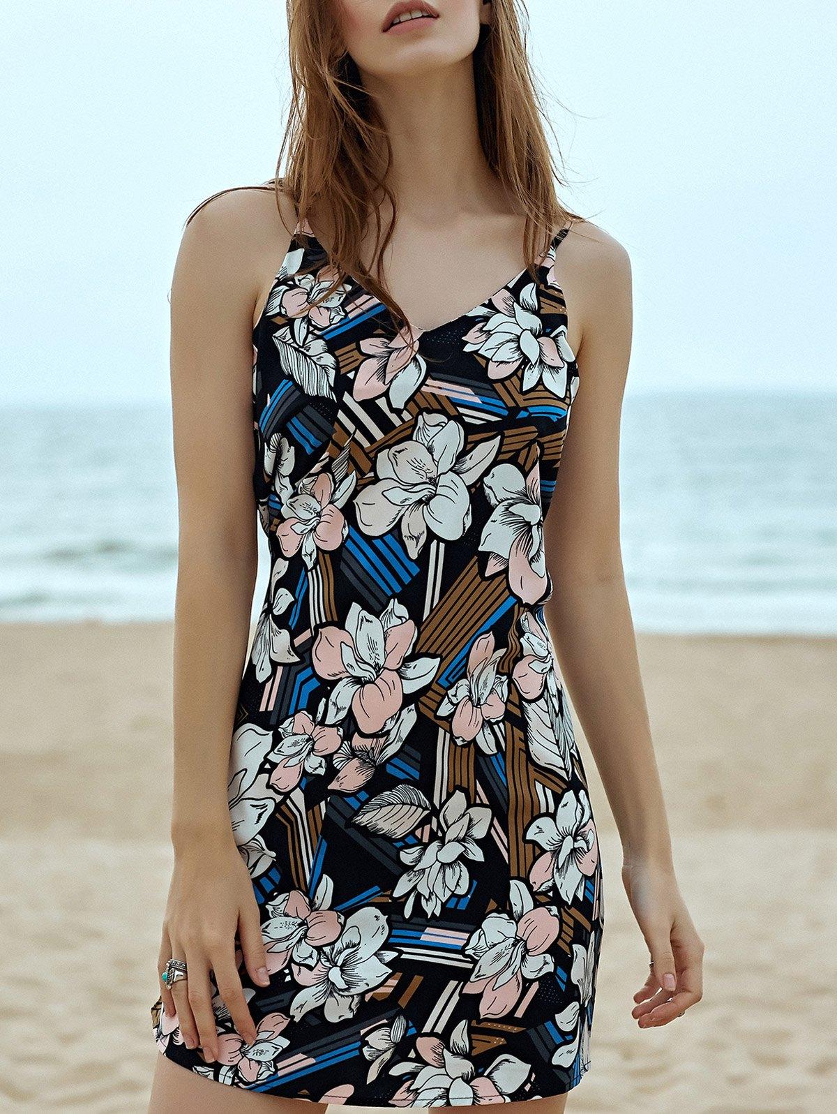 Cami Sleeveless Floral Print Dress