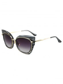 Striped Cat Eye Frame Sunglasses