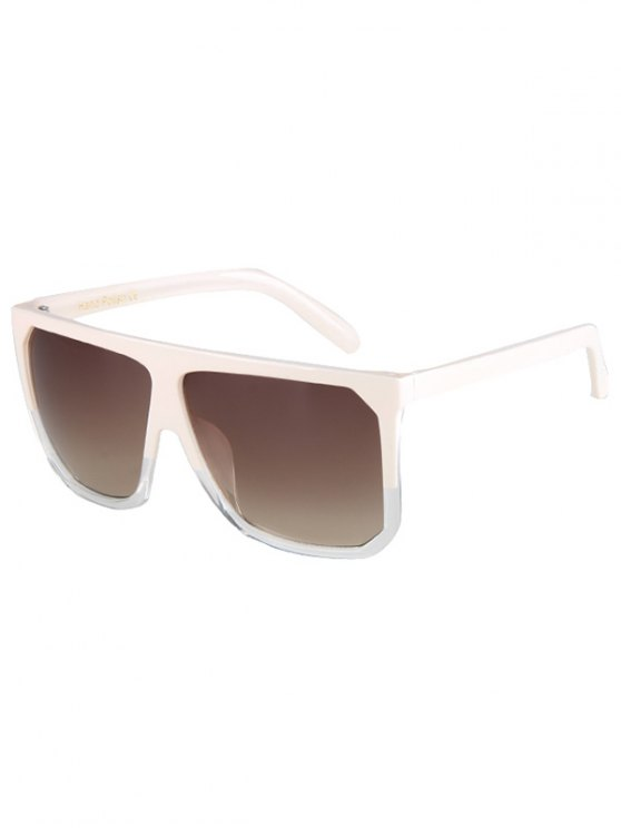 Bicolor Match Big Quadrate Frame Sunglasses - OFF-WHITE  Mobile