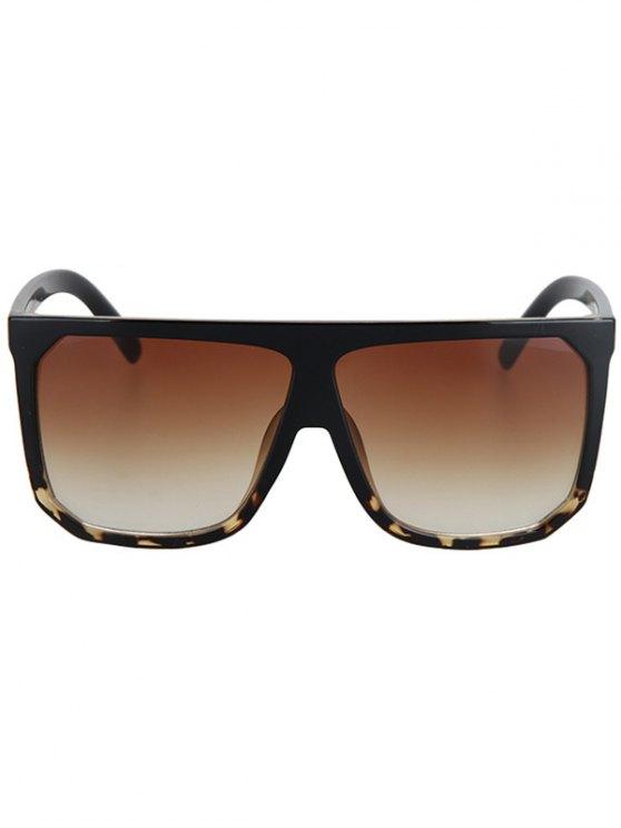 Leopard Pattern Match Quadrate Sunglasses - BLACK  Mobile