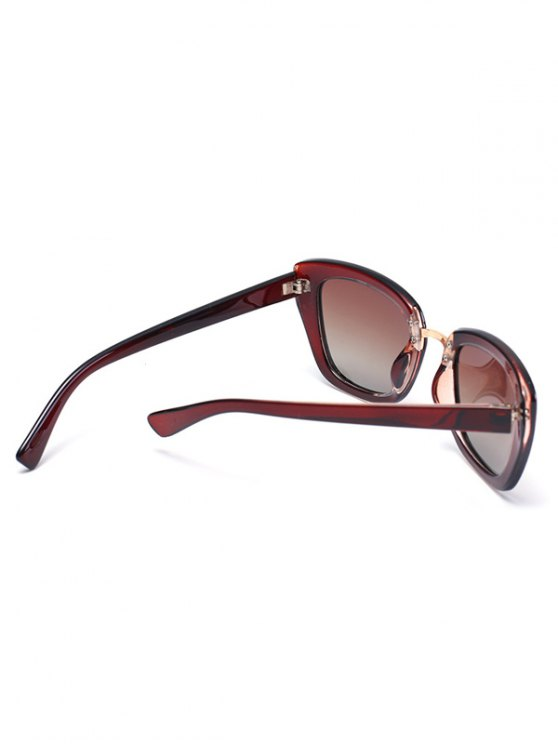 Butterfly Frame Sunglasses - TEA-COLORED  Mobile