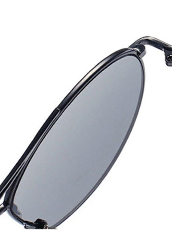 Black Irregular Frame Sunglasses - BLACK  Mobile