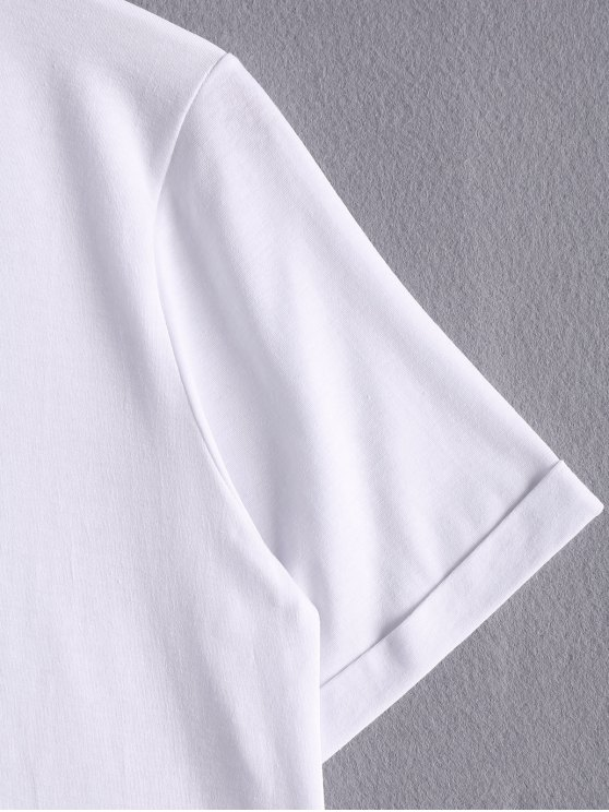 White Lettering T-Shirt - WHITE ONE SIZE(FIT SIZE XS TO M) Mobile