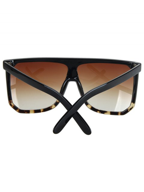 chic Leopard Pattern Match Quadrate Sunglasses - BLACK  Mobile