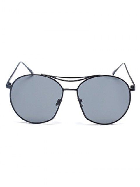 shop Black Irregular Frame Sunglasses - BLACK  Mobile