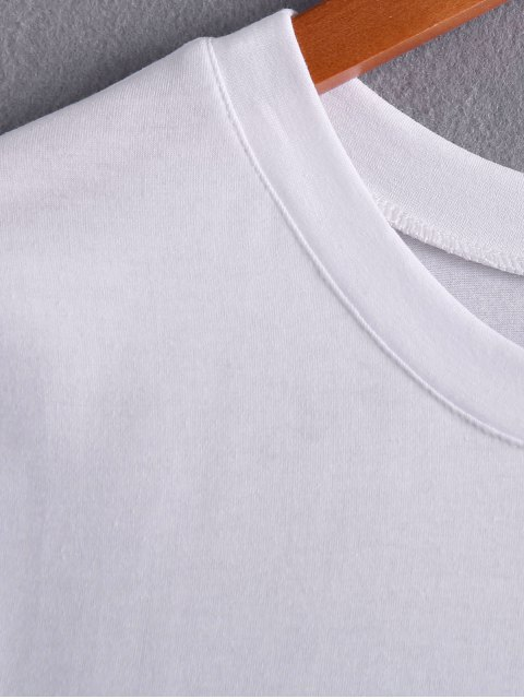 buy White Lettering T-Shirt - WHITE ONE SIZE(FIT SIZE XS TO M) Mobile