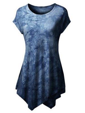 Tie Dyed Hankerchief T-Shirt - Deep Blue
