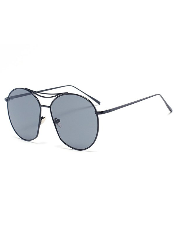 Black Irregular Frame Sunglasses