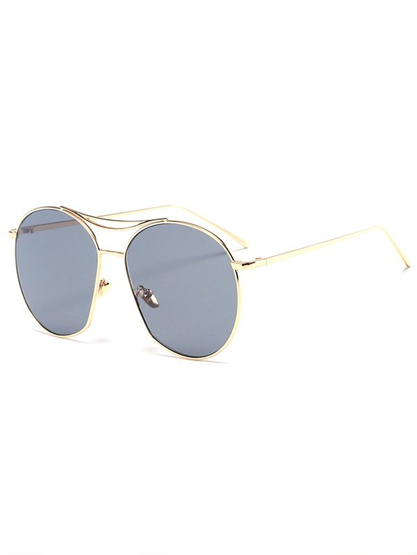 Golden Irregular Frame Sunglasses BLACK: Sunglasses ZAFUL