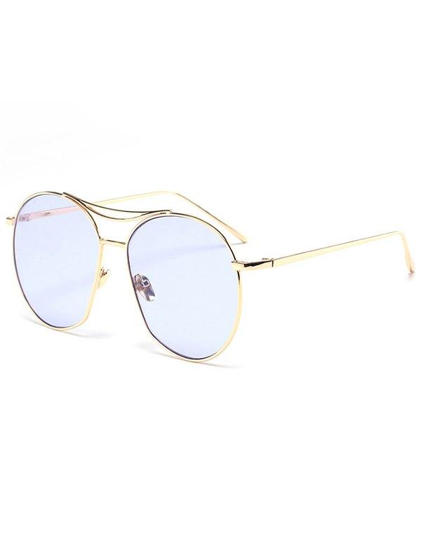 Golden Irregular Frame Sunglasses