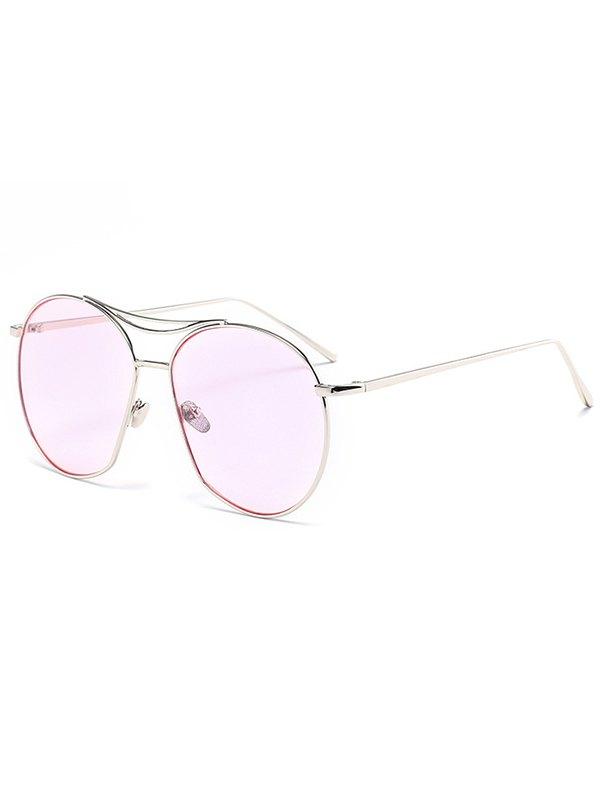 Silver Irregular Frame Sunglasses