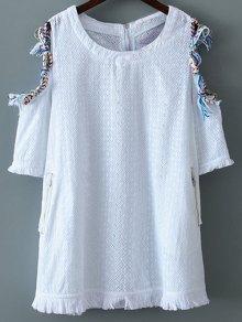 Cut-Out Braided Mini Dress