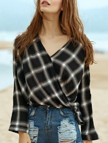 Plaid Draped Shirt